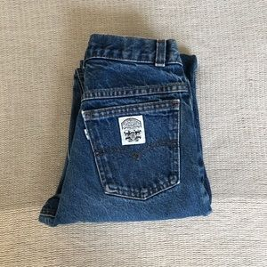 Vintage Levi's high rise rare white patch (9)